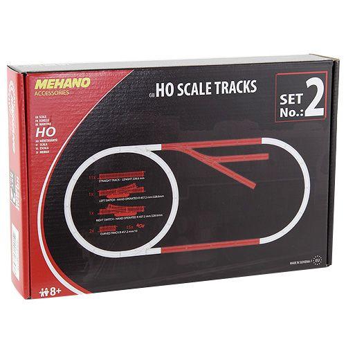 Mehano Set kolejí HO scale tracks set No.2