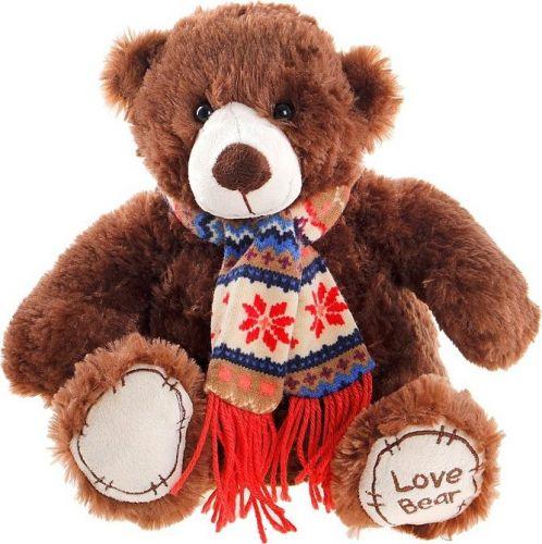 ALLTOYS Medvěd sedící se šálou 28 cm cena od 299 Kč