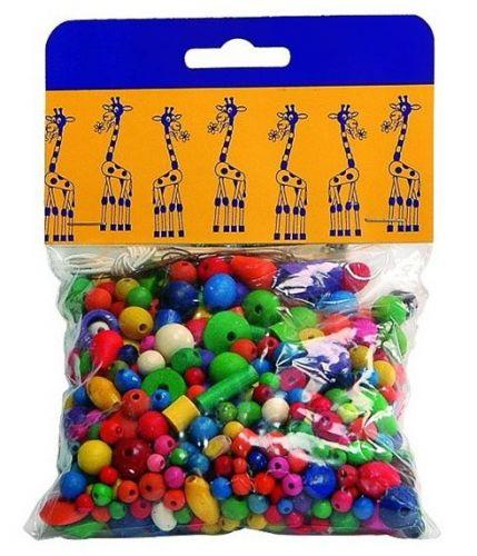 Detoa Mix dřevěných perlí barevné 100 g
