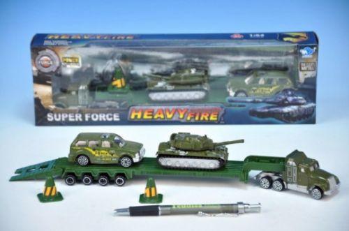 MIKRO TRADING Auto tahač vojenský 28 cm + tank + jeep v krabičce cena od 101 Kč
