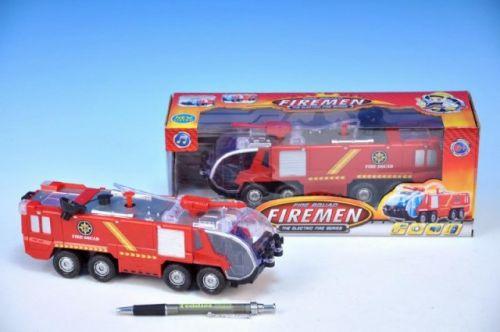 TEDDIES Auto hasiči plast na baterie stříkací se zvukem se světlem v krabici 23 cm cena od 469 Kč
