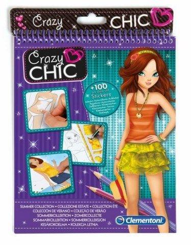 CLEMENTONI Crazy CHIC Sketchbooks letní móda cena od 160 Kč