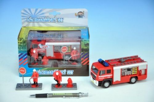 MIKRO TRADING Auto hasiči kov s postavičkami 13 cm cena od 203 Kč
