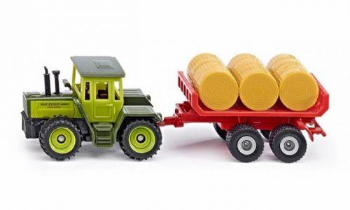 SIKU Super MB traktor s vlekem a balíky slámy cena od 155 Kč