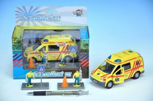 MIKRO TRADING Auto ambulance kov s postavičkami 13 cm cena od 199 Kč