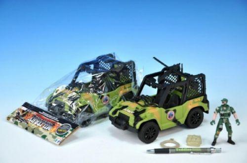 TEDDIES Auto Jeep vojenský plast 22 cm cena od 120 Kč