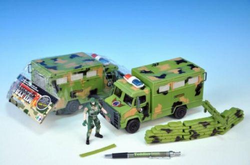 TEDDIES Auto vojenské s doplňky plast 20 cm cena od 0 Kč