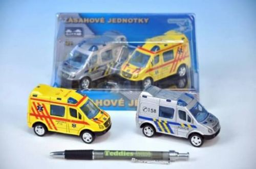 MIKRO TRADING Auto zásahové jednotky ambulance policie kov 8 cm cena od 161 Kč
