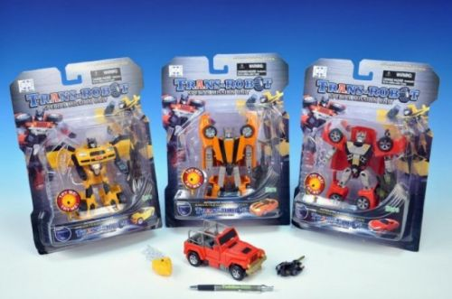 TEDDIES Transformer robot plast 15 cm cena od 183 Kč