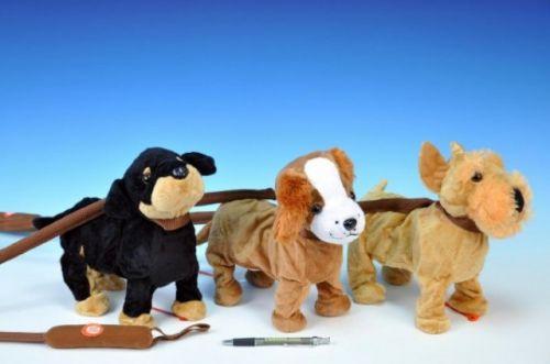 TEDDIES Pes na tyčce plyš chodící 25 cm cena od 318 Kč