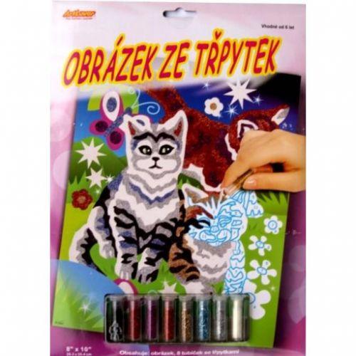 ArtLover Obrázek ze třpytek Kočky
