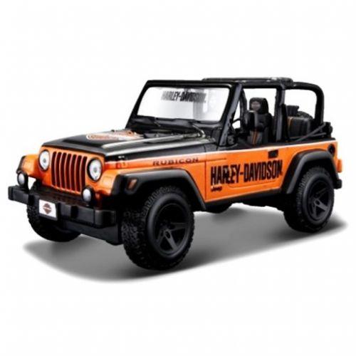 Maisto Jeep Wrangler Rubicon Harley Davidson Black 1/24 cena od 639 Kč