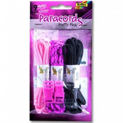 Folia Náramky z padákové šňury Paracords Pretty Pink