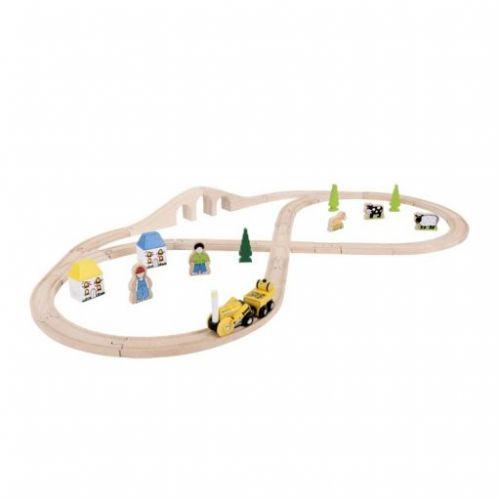 Bigjigs Toys Rail vláčkodráha s lokomotivou Rocket cena od 996 Kč