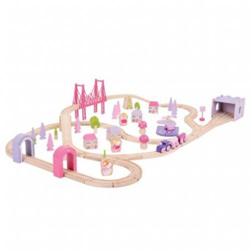 Bigjigs Toys Dřevěná vláčkodráha pro holky princezny cena od 1470 Kč