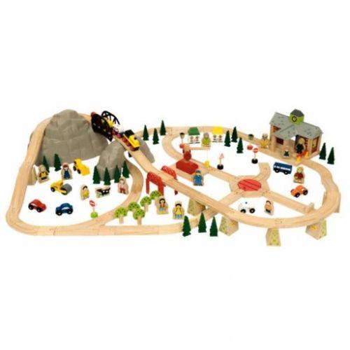 Bigjigs Toys Dřevěná vláčkodráha Horská cesta cena od 2309 Kč