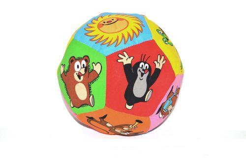 Wiky Textilní míček s chrastítkem Krteček