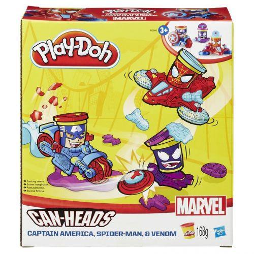 Hasbro Play-Doh kelímky ve tvaru hrdinů marvel s vozidly