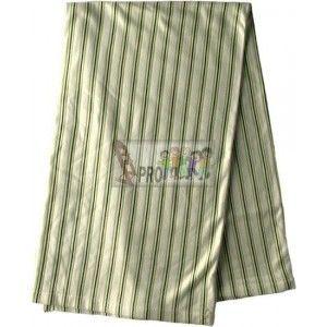 Kaarsgaren zeleno hnědý proužek bambusová deka