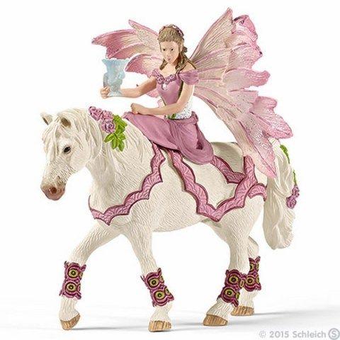 SCHLEICH Víla Feya ve slavnostním oděvu na koni