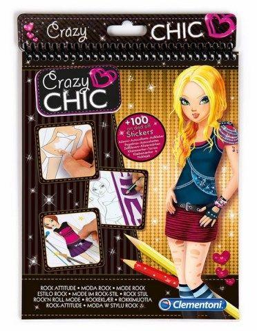 CLEMENTONI Crazy CHIC Sketchbooks móda rock cena od 150 Kč