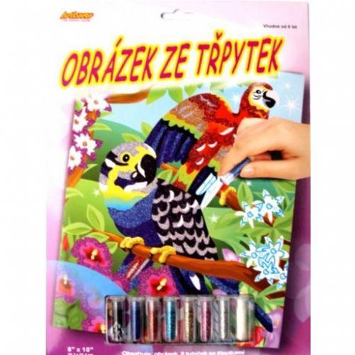 ArtLover Obrázek ze třpytek Papoušci