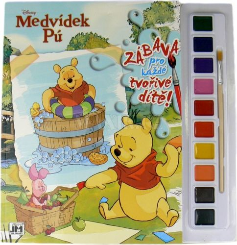 Jiri Models Disney Omalovánky s barvami A4 Medvídek Pú cena od 52 Kč