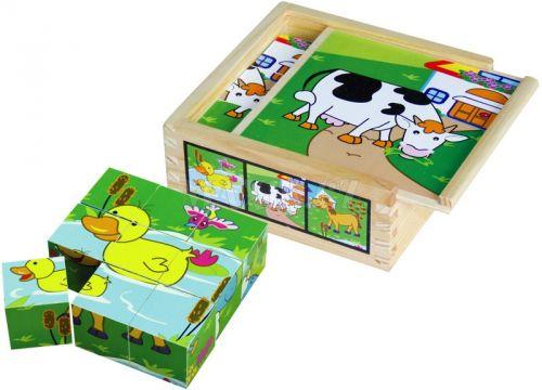 HM Studio Studo Wood Dřevěné kostky zvířátka cena od 0 Kč