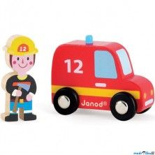 Janod Hasičské auto s hasičem cena od 0 Kč