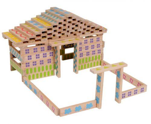 Boikido Dřevěná stavebnice 100 ks cena od 570 Kč
