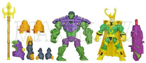 Hasbro Avengers Super Hero Mashers Hrdina a zloduch Hulk vs. Loki cena od 0 Kč