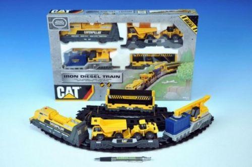 WIKY Vlak nákladní CAT plast lokomotiva + 3 vagóny + dráha cena od 269 Kč