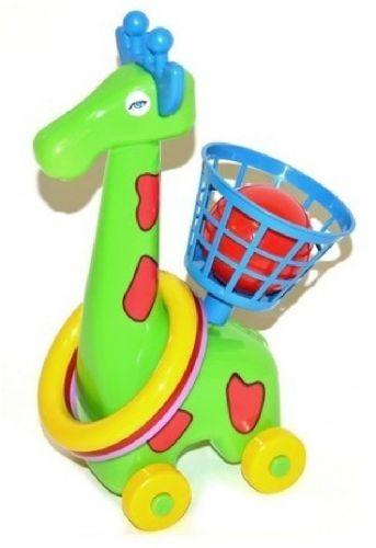Říha Žirafka na kolečkách s kroužky cena od 115 Kč