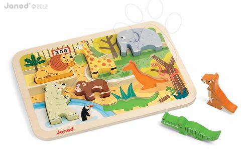 JANOD ZOO CHUNKY dřevěné puzzle pro nejmenší