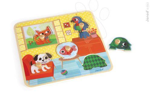 JANOD HOUSE'S FRIENDS 5 zvířat dřevěné puzzle cena od 229 Kč