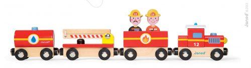 JANOD Story Set dřevěný magnetický vlak požárníci cena od 379 Kč