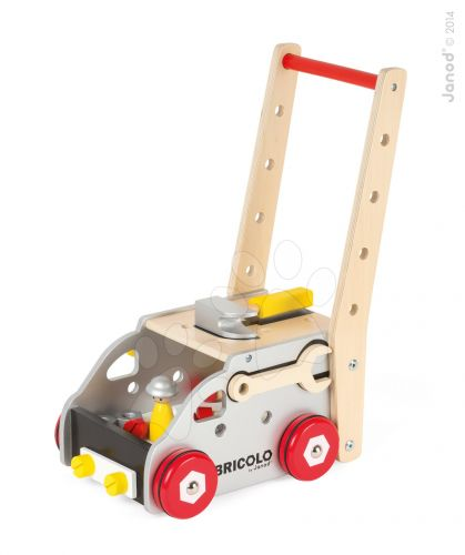 JANOD Redmaster Bricolo dřevěný magnetický pracovní vozík s doplňky