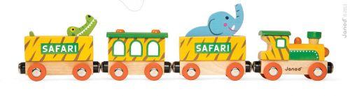 JANOD Story Set dřevěný magnetický vlak safari se zvířátky cena od 389 Kč