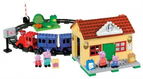 BIG BLOXX Peppa Pig rodinka na železniční stanici