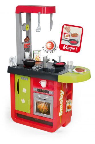 SMOBY CHERRY SPECIAL elektronická kuchyňka se zvukem jídelním pultem a kávovarem cena od 1349 Kč