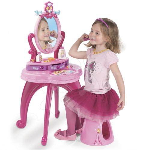 SMOBY Kosmetický stolek se židličkou 2v1 Disney Princezny cena od 1449 Kč