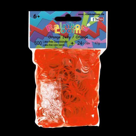 RAINBOW LOOM Original gumičky transparentní oranžové