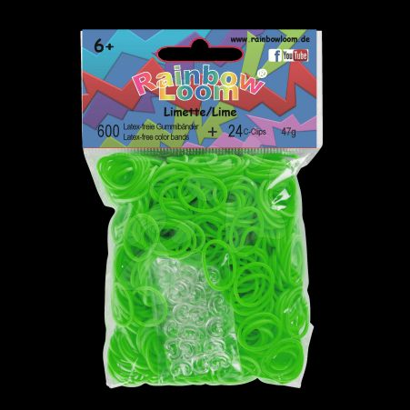 RAINBOW LOOM Original gumičky limetkově zelené