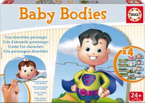 EDUCA baby puzzle Baby Bodies 12 dílků