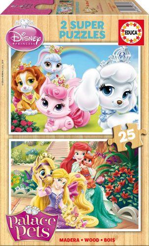 EDUCA Disney Palace Pets 2x25 dílků cena od 199 Kč