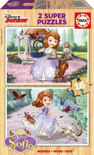 EDUCA Disney Sofia the First 2x16 dílků cena od 199 Kč