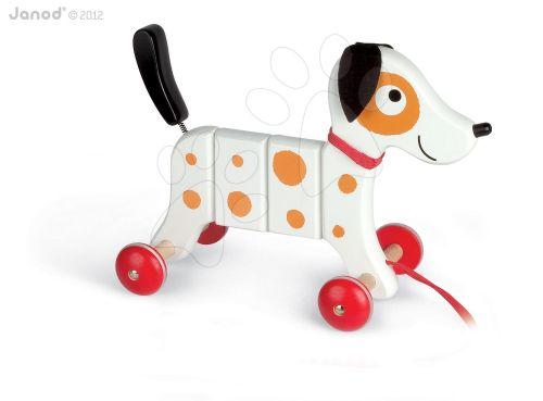 JANOD Dřevěný pes Rocky na tahání s taškou cena od 0 Kč