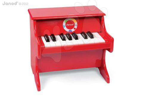 JANOD Dřevěný klavír CONFETTI RED PIANO se zvukem