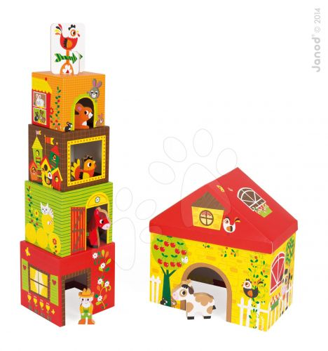 JANOD Multikub Farma s dřevěnými figurkami cena od 619 Kč