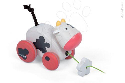 JANOD Dřevěná kravička na tahání se zvukem cena od 389 Kč